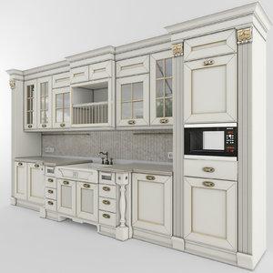3d model kitchen aster opera 01