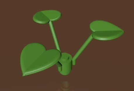 3d lego leaf plant model