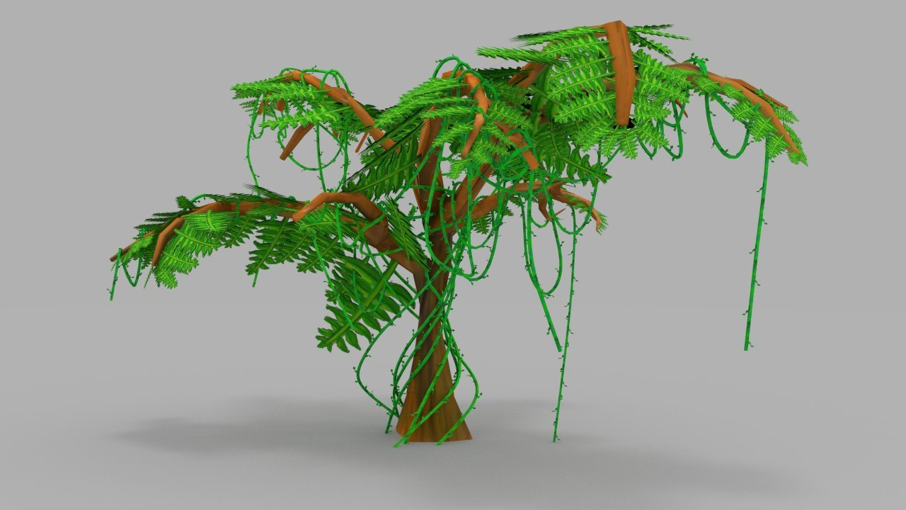 3d colorful tree model