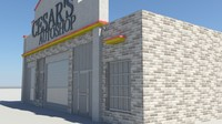 car autoshop 3d fbx