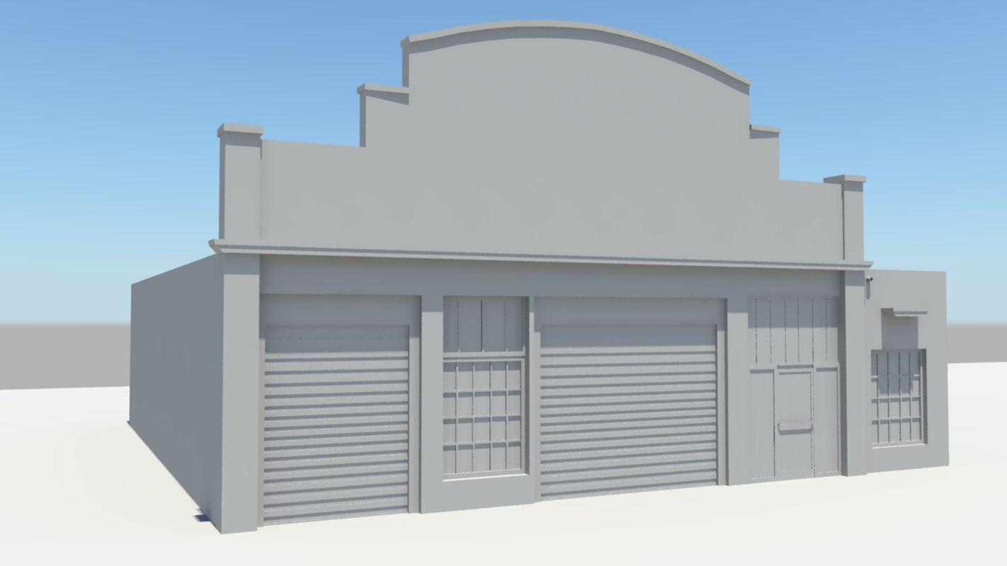 3d blank autoshop model