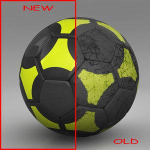 ball soccer black 3d 3ds