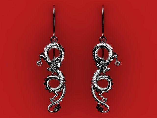 maya dragon earrings