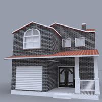 3d home cottage sides