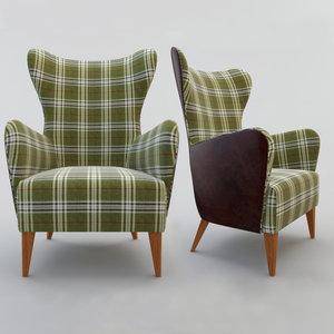 3d model armchair decoration