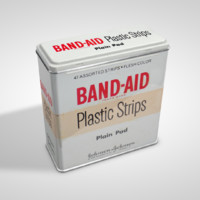 band aid tin c4d