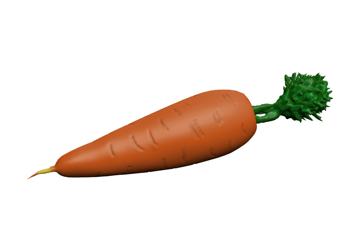 carrot 3d obj