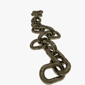 3d model steel chain