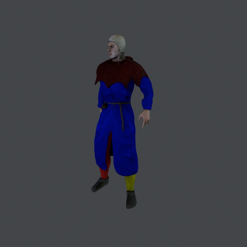 3d model medieval civilian