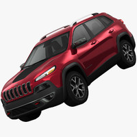 3d jeep cherokee trailhawk crossover