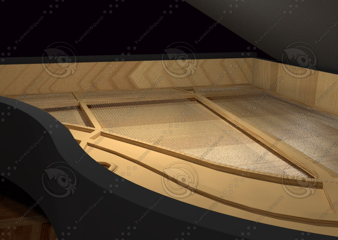 3dsmax grand piano