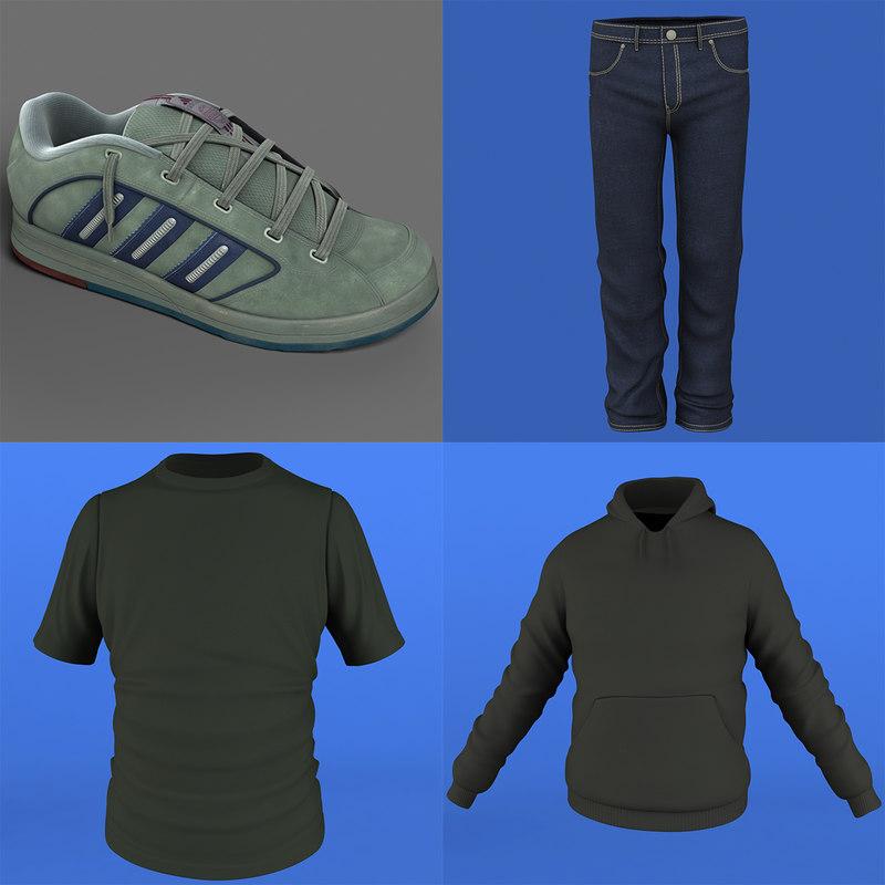 3d pack man cloth model