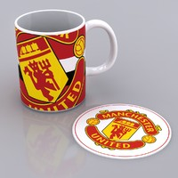 Manchester United Big Crest Mug & Mat