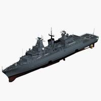 3d f123 brandenburg class frigate model