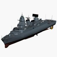 F124 Sachsen class german frigate