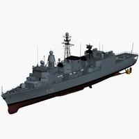 F122 Bremen class german frigate