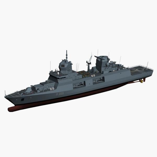 3d f125 baden wuerttemberg class frigate model