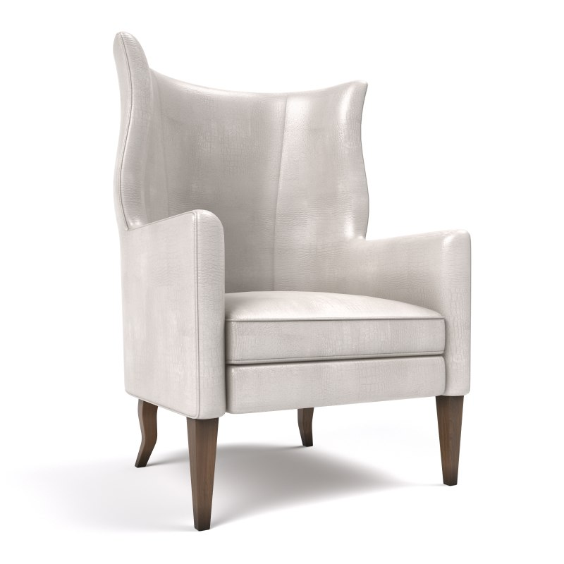 3d model wing chair baker