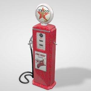 old gas pump 3d model