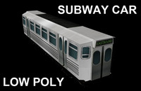 Subway Car Low Poly