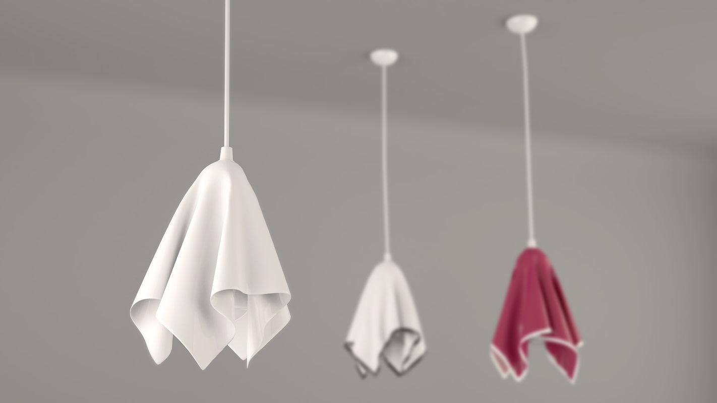 3d model pendant lamp handkerchief