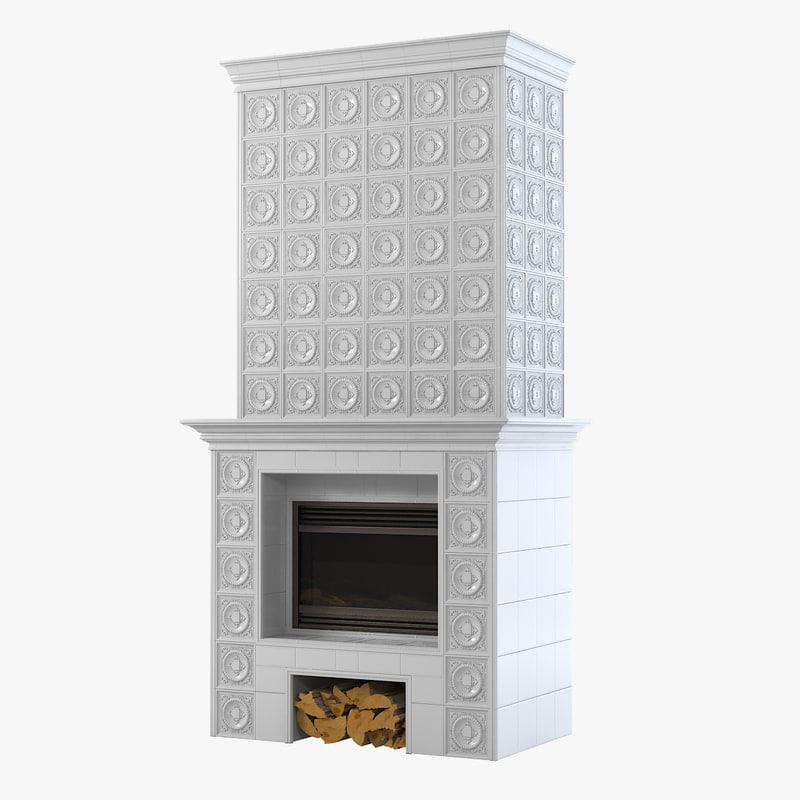 ceramic fireplace 3d model