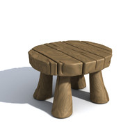 cartoon table 3d model