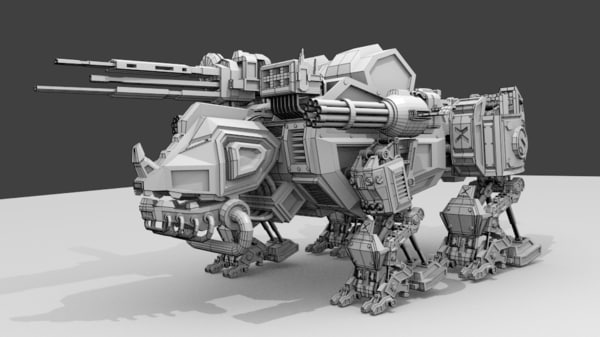 rhino robot fbx