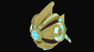 3d protoss probe