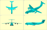 c-5b transport aircraft solid 3d model