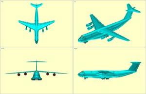 c-5b transport aircraft solid 3d model