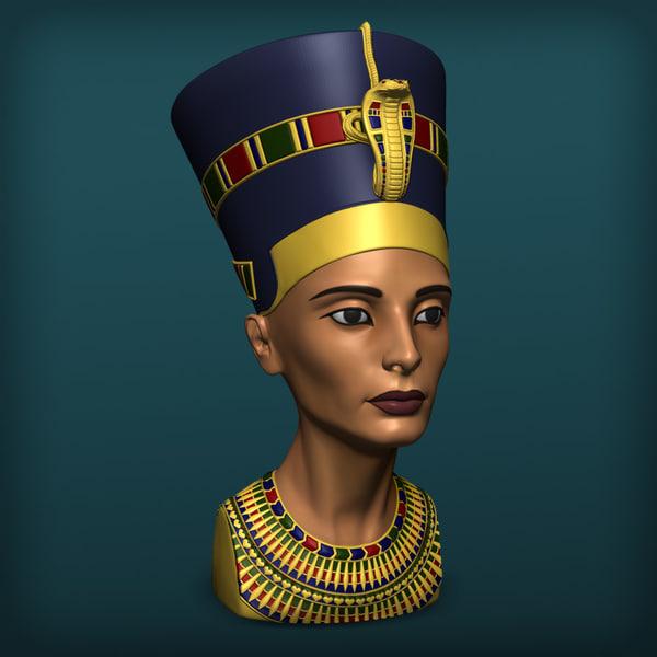 queen nefertiti 3d obj