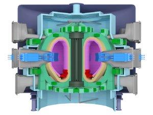 tokamak fusion reactor 3d model