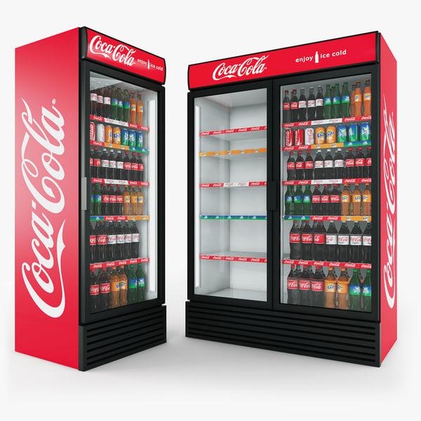 coca-cola fridges 3d model