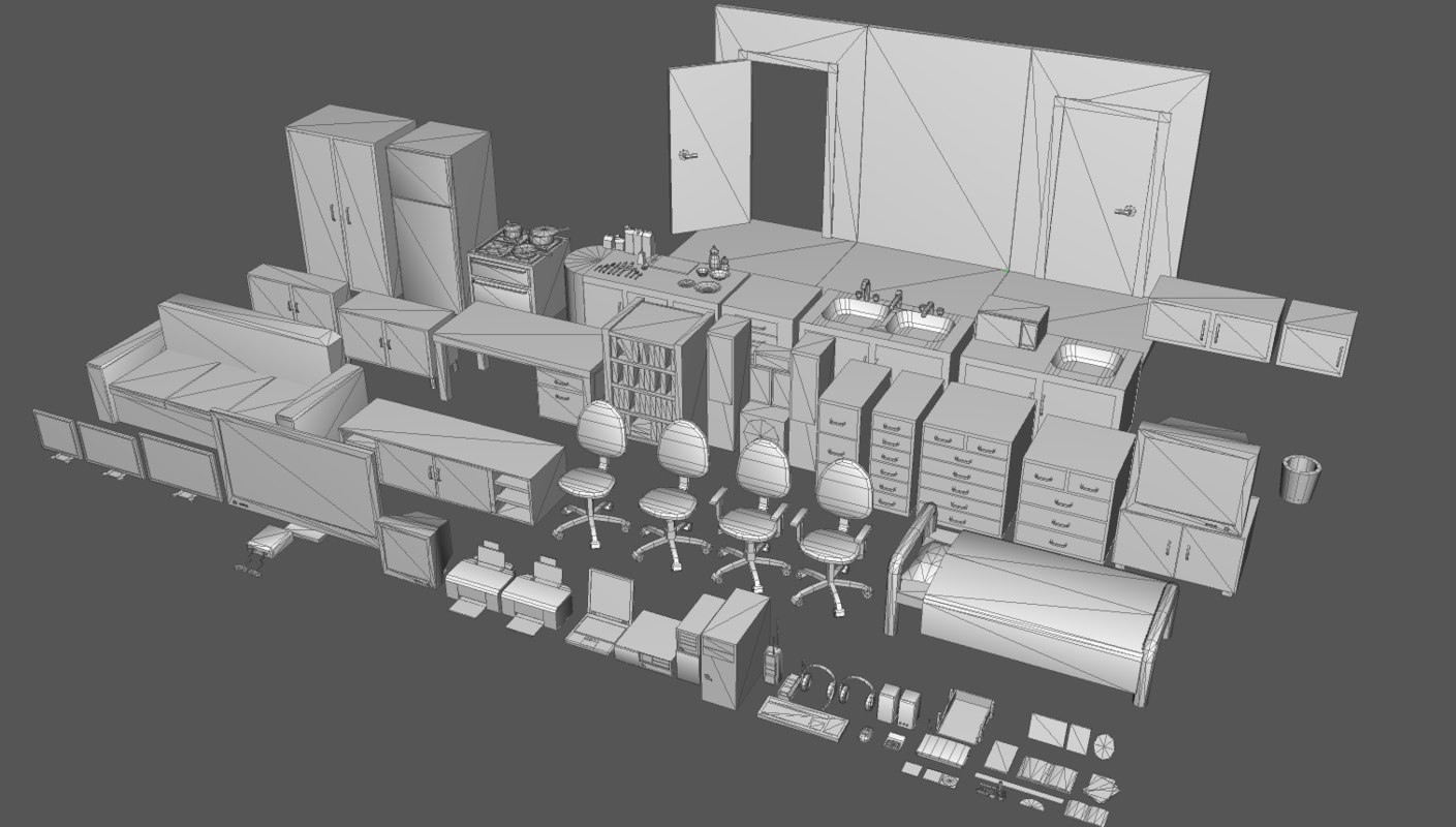 house kitchen 3ds