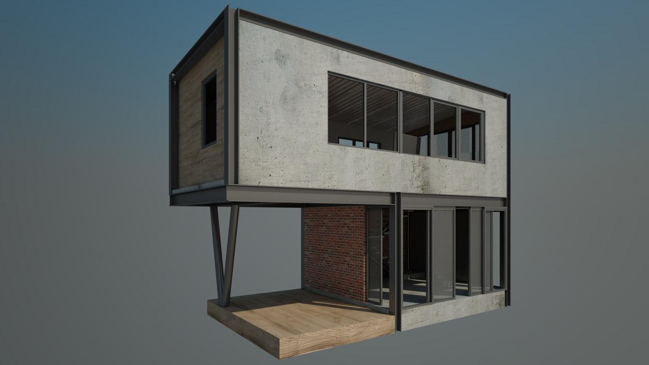 max 4x10 m concrete house