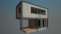 max 4x10 m concrete house
