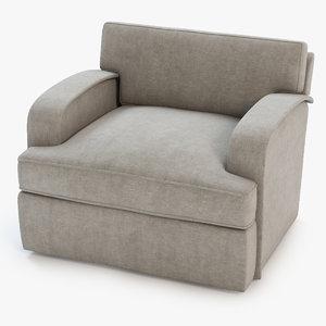 3d roxbury lounge chair