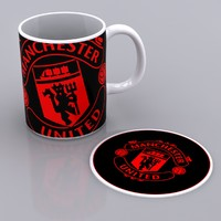 Manchester United Established Mug & Mat
