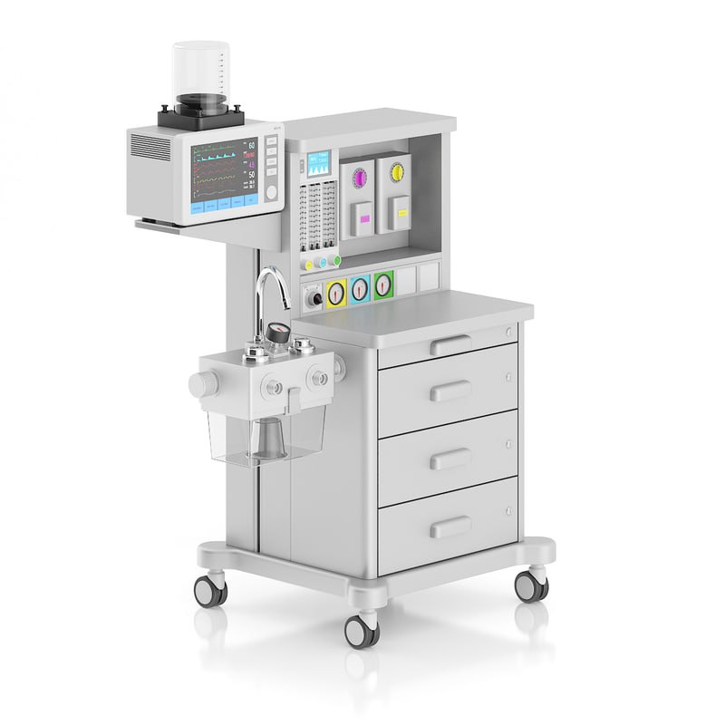 anesthesia delivery 3d max