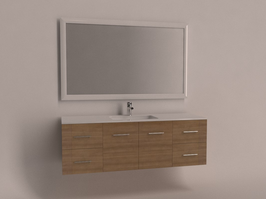 3d model of bathroom cabinets