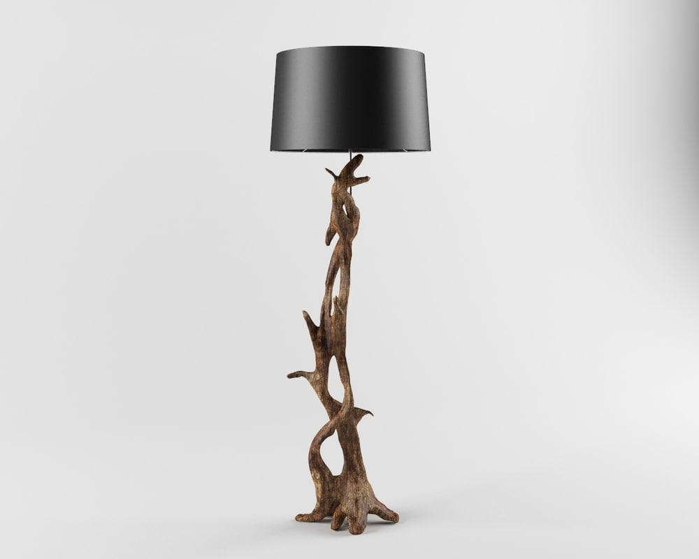 3ds max floor lamp arteriors dragon