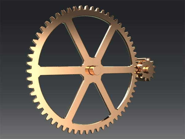 3ds max gears
