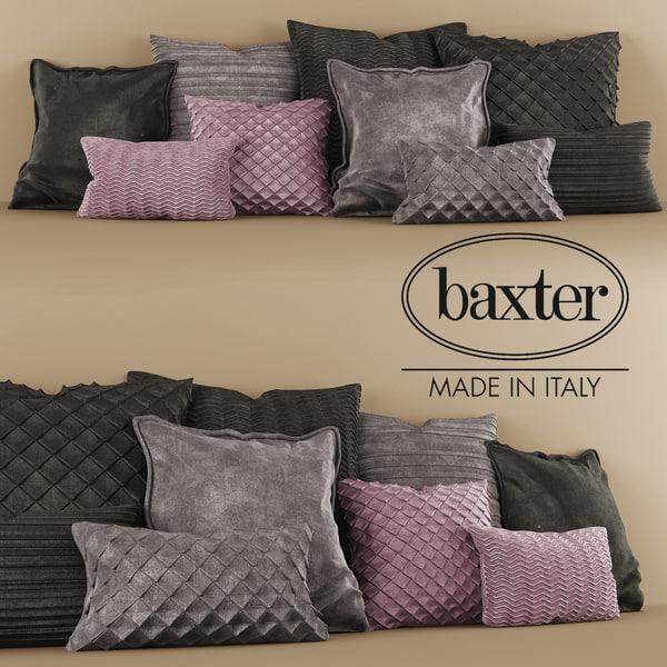 pillow baxter 3d obj