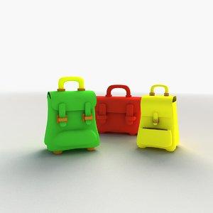 3d bags cartoon