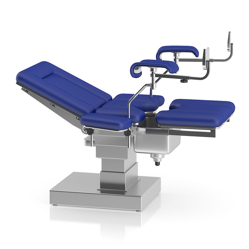 3d metal gynecological examination table model