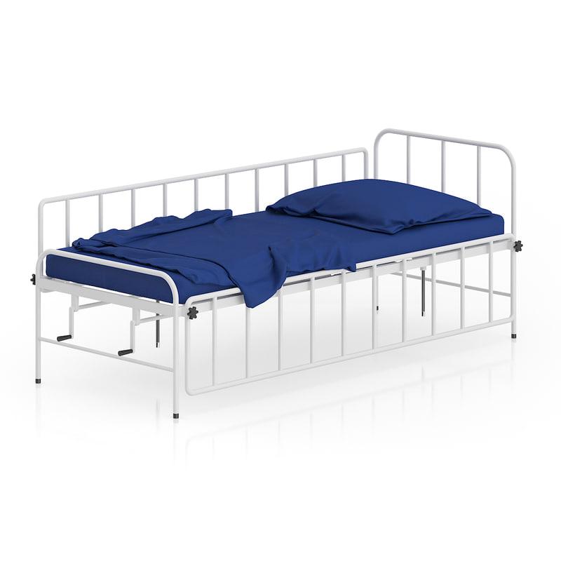 3d model white bed
