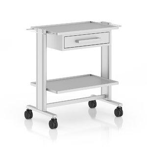obj metal hospital table