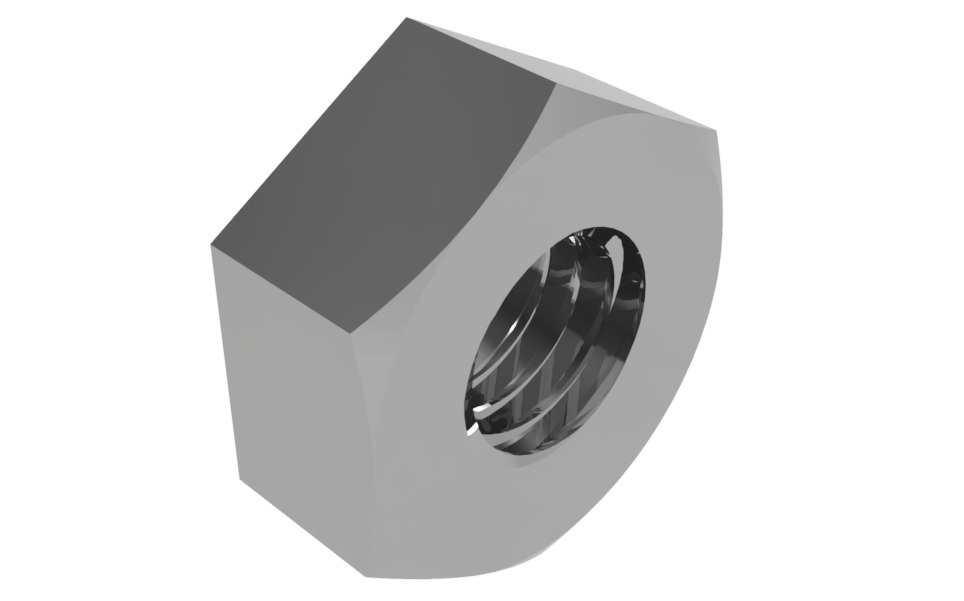 hexagonal metric nut dxf