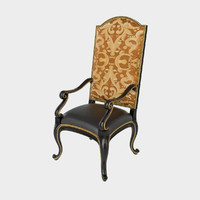 3d model classical victorian chair